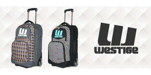 Cestovní kufr s kolečky a objemem 44 l