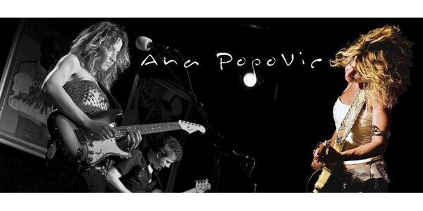 245 Kč za vstupenku na koncert bluesové hvězdy Any Popović!