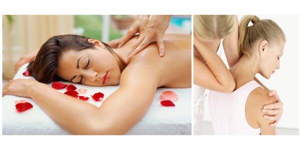 Regenerační masáž v délce 60 minut, výběr z 3 duhů masáží - zaváděcí cena