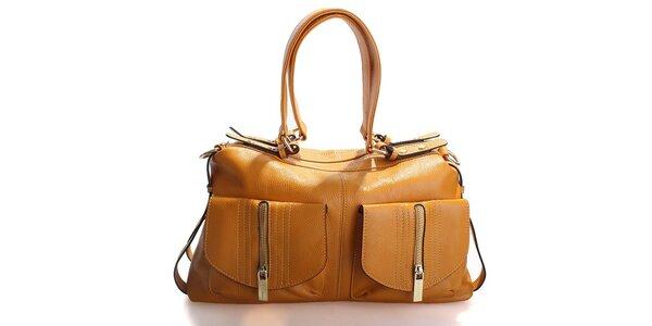 Dámská sytě žlutá kabelka Belle & Bloom se zlatými zipy