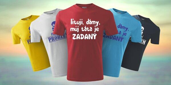Originální dětská trička s vtipnými nápisy
