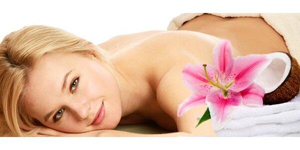 Relaxační masáž s kokosovým BIO olejem