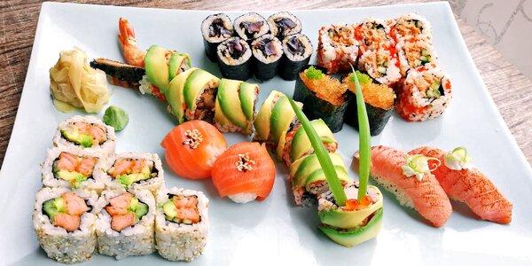 Sushi sety s krevetou, lososem i tuňákem