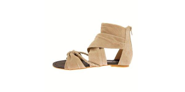 Dámské béžové semišové sandály Buffalo