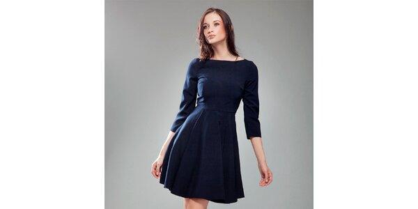 Dámské tmavě modré šaty s širokou sukní Nife