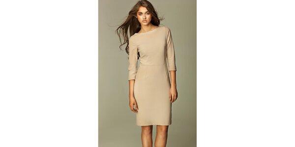 Dámské béžové business šaty Nife