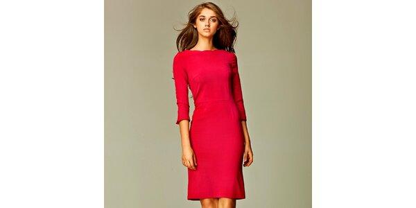 Dámské červené business šaty Nife