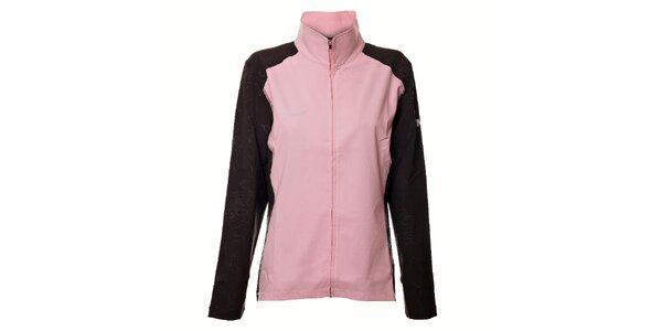 Dámská světle růžová softshellová bunda Northland s šedými rukávy