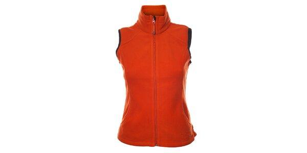 Dámská oranžová fleecová vesta Northland
