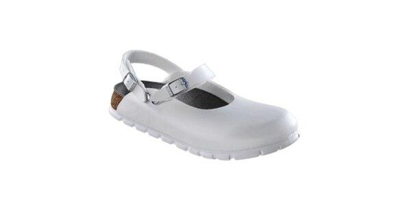 Dámské bílé zdravotní pantofle Alpro