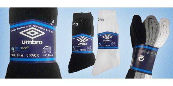 3 páry značkových ponožek Umbro