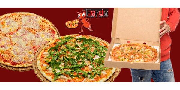 2 výborné pizzy s rozvozem po Ostravě zdarma