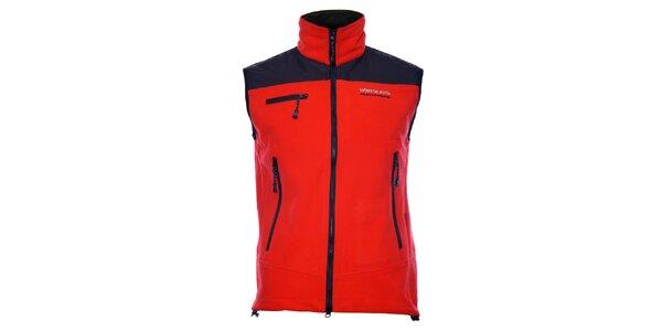 Pánská červená fleecová vesta Northland