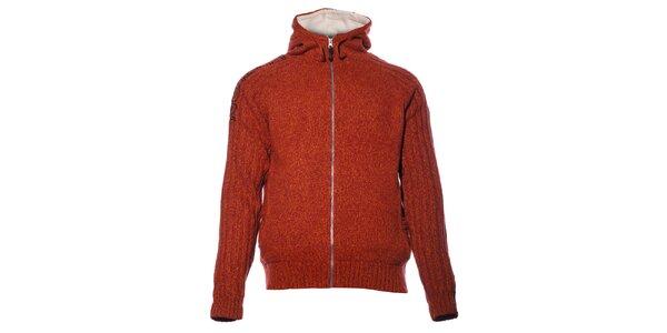 Pánský cihlově červený svetr Northland s podšívkou