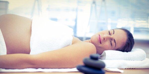 Těhotenská masáž nohou a zad dle výběru