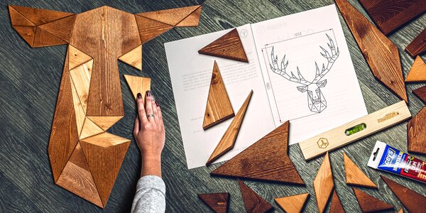 Velké dřevěné obrazy, které si poskládáte sami