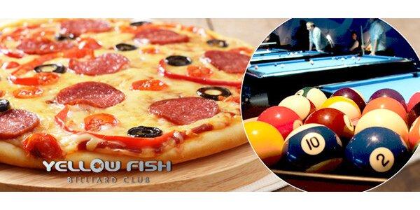 2× pizza a 2× hodina kulečníků