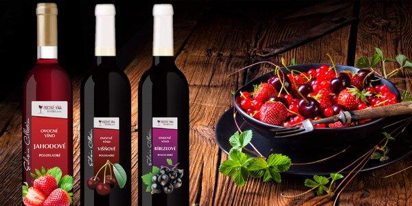 6 ovocných vín: Jahoda, višeň a černý rybíz