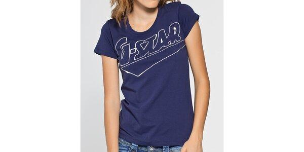 Dámské tmavě modré tričko G-Star Raw s potiskem