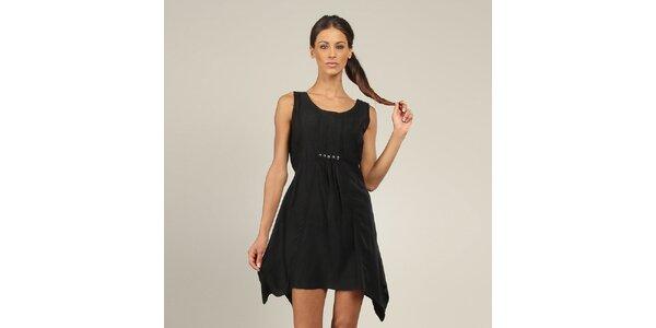 Dámské černé šaty s knoflíčky Coline
