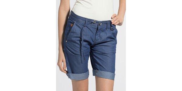 Dámské modré džínové šortky G-Star Raw s ohrnutým lemem