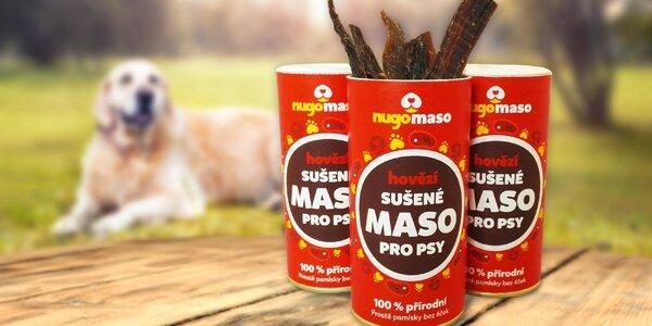 Nugo maso: Sušené hovězí maso pro pejsky