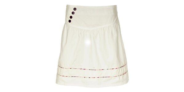 Dámská bílá sukně Loap s barevnými proužky