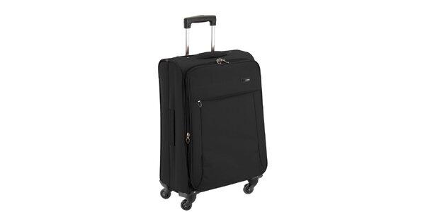 Černý látkový kufr na kolečkách Valisa