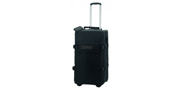 Černá/khaki cestovní taška na kolečkách ESPRIT