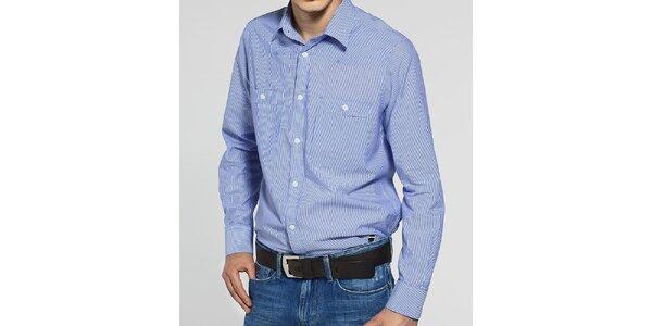 Pánská světle modrá košile G-Star Raw s úzkým proužkem