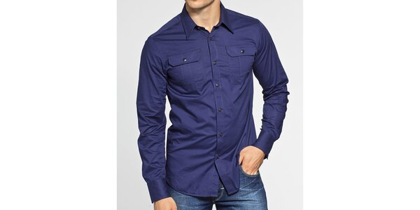 Pánská tmavě modrá košile G-Star Raw