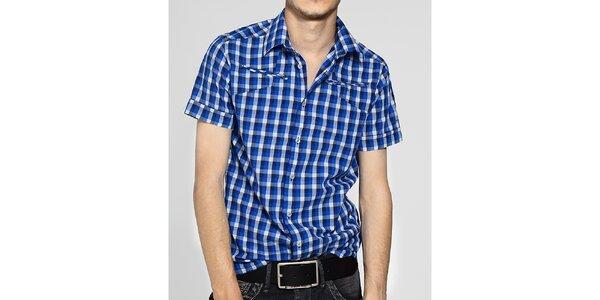 Pánská světle modrá kostkovaná košile G-Star Raw
