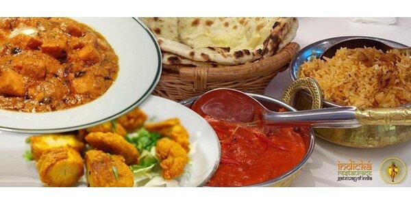 245 Kč za tříchodové menu pro DVA v indické restauraci v Ústí nad Labem