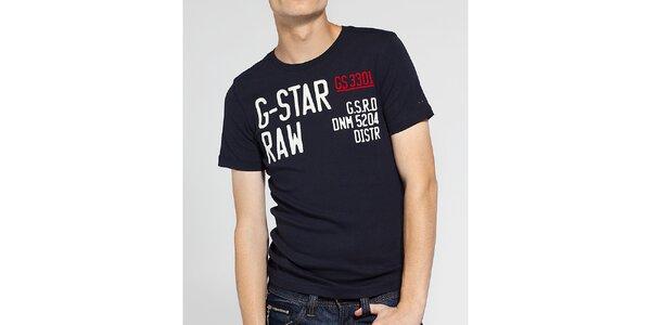 Pánské tmavě modré tričko G-Star Raw s potiskem