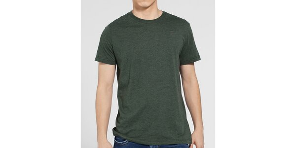 Pánské tmavě zelené melírované tričko G-Star Raw