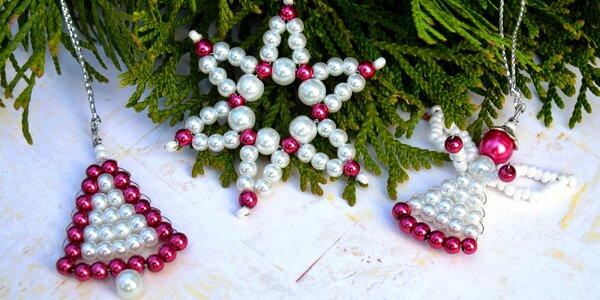 Kurz na výrobu korálkových vánočních dekorací