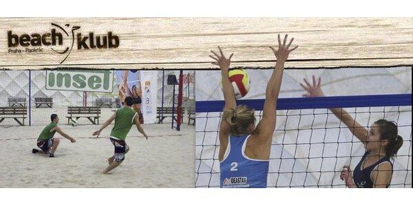 299 Kč za hodinový pronájem beach volejbalového kurtu v hale na Pankráci!