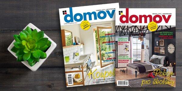 Roční předplatné časopisu Domov na rok 2019