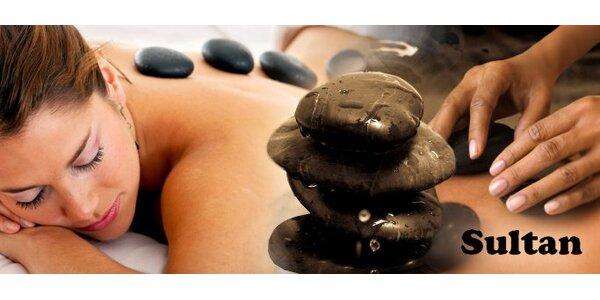 169 Kč za půlhodinovou masáž lávovými kameny šíje, ramen, hlavy a obličeje.
