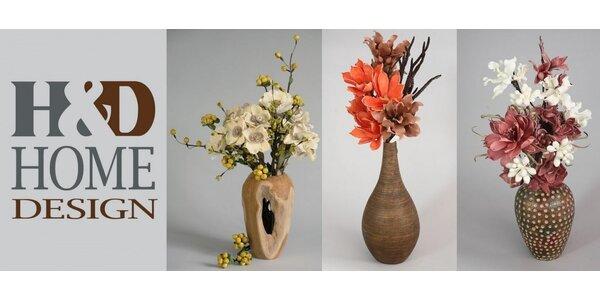 35% sleva na dekorativní květiny