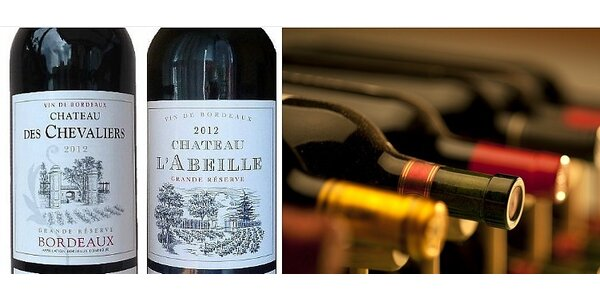 4 vína Grand Réserve z apelace Bordeaux AOC