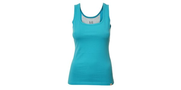 Dámské tílko YU Feelwear v azurové barvě