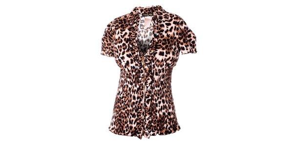 Dámská hnědá leopardí halenka Baby Phat
