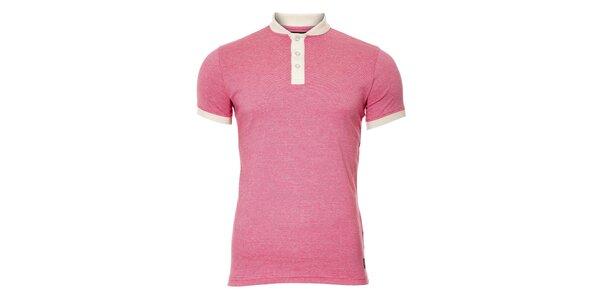 Pánské růžové tričko s knoflíčky