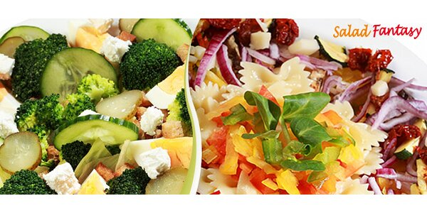 Dva velké čerstvé saláty dle vlastního výběru