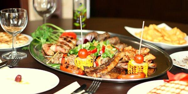 Řecké masové i sýrové speciality pro 2 osoby