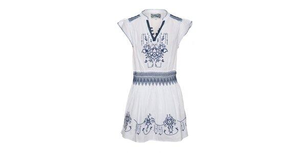 Bílé krajkované šaty Lois