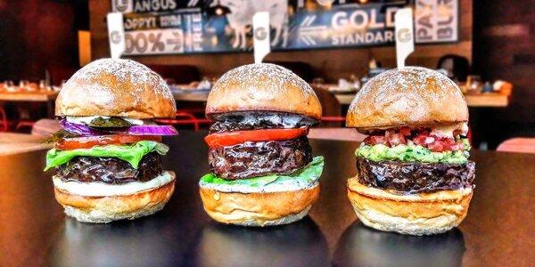 Miniburgery a hranolky s dipem pro 2 osoby