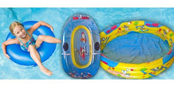 Nafukovací bazén a člun s motivem Tom & Jerry