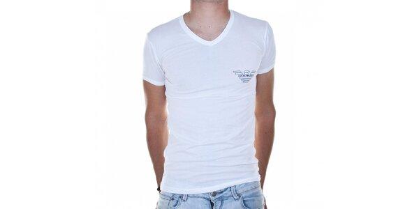 Pánské bílé tričko Emporio Armani s potiskem